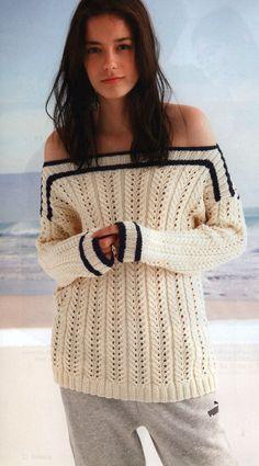Irina: Bardot Pullover.