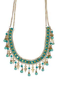 Czech Crystal & Turquoise Bib Necklace on @HauteLook