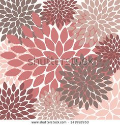 vector seamless pattern. modern floral texture. endless abstract background by AnaMarques, via Shutterstock