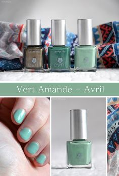 Vernis Vert Amande - Avril | CherryBlogssom