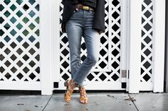 Spring fashion trends outfit idea with Madewell jeans and Old Navy sandals by Amanda Holstein, casual style inspiration summer