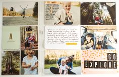 Pages created by Rhonda Steed, featuring the Everyday Edition Core Kit and Adventure Edition Chipboard Stickers.