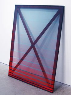 Rebecca Ward   X, 2013, acrylic and lacquer on silk over frame 48 x 36 inches; Barbara Davis Gallery