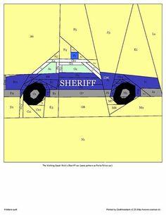 Sheriff car free pattern!