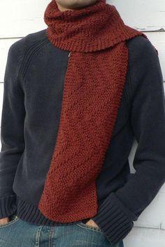 Sweet Paprika Designs - Rambler's Scarf knitting pattern by Elizabeth Sullivan Photo © Sweet Paprika Designs Mens Scarf Knitting Pattern, Mens Knitted Scarf, Knitting Patterns, Knitted Scarves, Scarf Patterns, Knit Hats, Knitting Projects, Garter Stitch, Neck Scarves