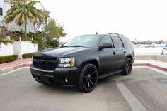 Matte Black Chevrolet Tahoe LT.