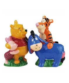Take a look at this Pooh & Friends Salt & Pepper Shakers by Westland Giftware on #zulily today! $14 !!