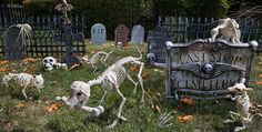 Halloween Tombstones & Cemetery Decorations - Party City