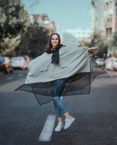 Image may contain: one or more people and outdoor Niqab Fashion, Modest Fashion Hijab, Modern Hijab Fashion, Girl Fashion, Fashion Outfits, Womens Fashion, Stylish Clothes For Women, Stylish Girls Photos, Cool Girl Pictures