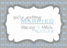 Save the date card by cindyhamiltondesign on Etsy, $10.00
