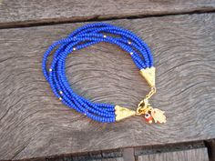 Blue Evil Eye Beaded Hamsa Bracelet by cocolocca on Etsy