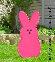 Easter decor CHUBBY BUNNIES yard art Easter Bunny sign yard decoration on Etsy, $30.00