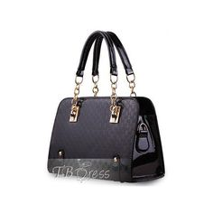 New PU Leather Women Tote Bag ($18) ❤ liked on Polyvore