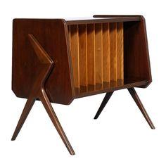 Mid century modern Ico Parisi magazine rack - cabinet record