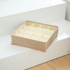 Foldable Socks Bras Underwear Organizer Box – HomeAlls Underwear Organization, Closet Organization, Linen Fabric, Cotton Linen, Organiser Box, Decorative Boxes, Socks, Storage, Handkerchiefs