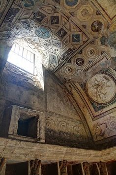 Ceiling in south-east corner of tepidarium. Pompeii, Forum Thermae.
