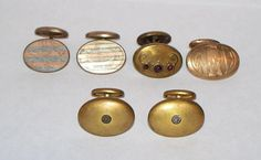 Vintage/Antique/Victorian Cufflink Lot Pairs Singles Designs Stones  #Unbranded