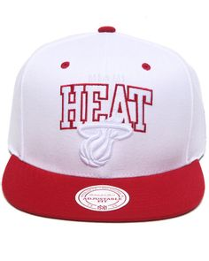 Boyfriend Gift - Miami Heat NBA HWC White and TC Arch w/ Logo Snapback Hat by Mitchell & Ness