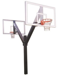First Team Legend Supreme DUAL In Ground Fixed Height Outdoor Basketball Hoop 72 inch Acrylic from NJ Swingsets
