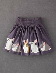 Mini Boden Appliqué Skirt (Little Girls & Big Girls) available at cute! I could easily sew something like this with applique creations, like skates:-D Fashion Kids, Little Girl Fashion, Outfits Niños, Kids Outfits, Kids Mode, Applique Skirt, Nordstrom, Mini Boden, Kid Styles