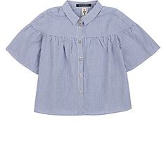 Scotch R'Belle Kids' Striped Cotton Bell-Sleeve Blouse - Tops - 505393690