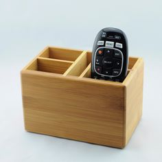Engraved Bamboo Remote Control Caddy personalized with Name & Est. Year. Makes great personalized wedding or anniversary gift. This also works great as a pen holder / desk organizer! ****When ordering