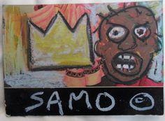 authentic signed vintage SAMO Street Art postcard circa 1981 Basquiat Warhol era #Expressionism