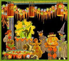 Rare Rare  RARE.  Vintage Vivid 1920s Stunning Halloween Party.  HALLOWEEN Digital Download. Halloween VINTAGE  Illustration. on Etsy, $1.99