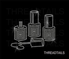 Rhinestone Bling Tshirt with nail polish design. by Threadtails, $16.00
