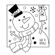 Woodware Clear Magic Singles by Francoise Read - Jolly Snowman - CraftStash