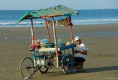 Fruit vendor, Tarqui Beach, Manta, Ecuador