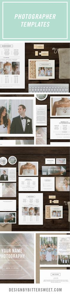 "Start marketing your photography studio with our easy to use fully customizable Photoshop templates :-3.5"" x 2"" business card design -5"" x 5"" accordion trifold design -5"" x 7"" pricing flyer design -8.5"" x 11"" pricing guide template -4"" x 6"" thank you card template (4"" x 5.5"" design for WHCC) -4.75"" x 4.75"" wooden box template -2.5"" x 1.25"" wooden usb template -two 3"" x 3"" sticker designs -5"" x 5"" gift card template -facebook timeline template *Beautiful images courtesy of @day7photography"