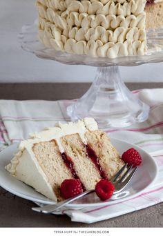 Raspberry Earl Grey Cake | by Tessa Huff for TheCakeBlog.com