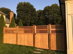 Image result for fence with horizontal boards