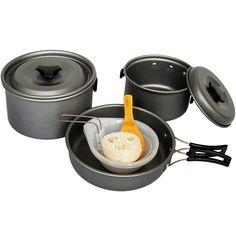 Tera Essgeschirr Outdoor Kochset Topfset Kochgeschirr Schnellkochtopfset für Camping: Amazon.de: Sport & Freizeit