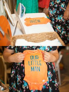 I created a Onesie Iron On Station with some help from Expressions Vinyl, who sent me the vinyl for this project. #VinylProjects #ExpressionsVinyl Photo credit: DK Brittain Photography I love hands on activities at baby showers and dread the traditional, boring games. So, when I was put in charge of planning a baby shower for …