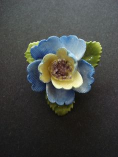 Bone China Brooch made in England - Floral
