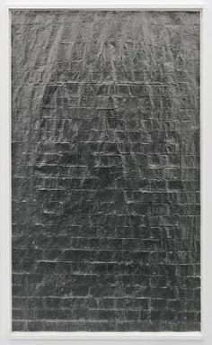 Anna Barriball  Untitled, 2009  pencil on paper  218 x 134 cm