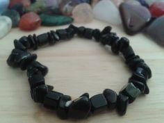 Black Onyx bracelet-For Keeps gemstone accessories. www.redroseforkeeps.com Black Onyx, Gemstones, Jewellery, Bracelets, Accessories, Jewels, Gems, Schmuck, Bracelet