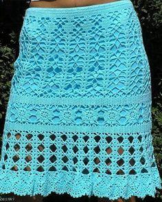 5f83d55ea Las 31 mejores imágenes de Faldas tejidas crochet y dos agujas en ...