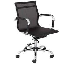 Maxmesh Black Low Back Desk Chair | 55DowningStreet.com