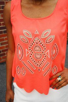 such a pretty coral shirt