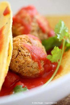 Jackfruit Meatballs Tacos and Brush with Bamboo Giveaway - Vegan Richa