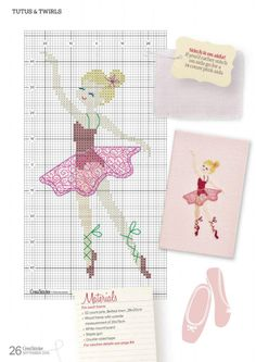 Tutus and Twirls 3 of 4 Cross Stitch Bookmarks, Cross Stitch Cards, Cross Stitching, Cross Stitch Embroidery, Hand Embroidery, Cross Stitch For Kids, Simple Cross Stitch, Cross Stitch Baby, Easy Cross