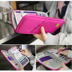Viaje De Tela pasaporte id titular de tarjeta Funda Cartera Bolso Organizador in Ropa, calzado y accesorios, Accesorios para mujer, Portadocumentos | eBay