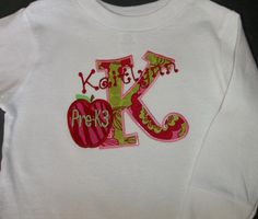 Back To School Monogrammed Long Sleeve T by Blumers Embroidery https://www.etsy.com/listing/109821727/back-to-school-monogrammed-long-sleeve-t