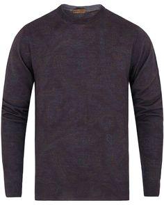 newest a57f0 e7577 Etro Wool Cashmere Paisley Crewneck Knit Dark Brown.  ByglarMörkbrunPaisleyStickningKoftor