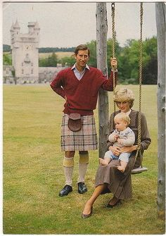 lovelydianaprincessofwales:    Charles, Diana and William in 1983