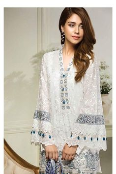Brand new Size XS available Length Bust Tunic Designs, Kurta Designs, Pakistani Dress Design, Pakistani Outfits, Nice Dresses, Casual Dresses, Eastern Dresses, Pakistan Fashion, Embroidered Clothes