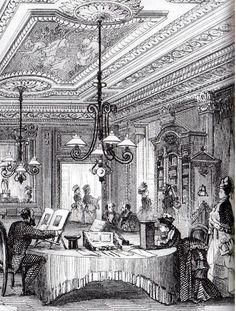 Salon de lecture du Bon Marché - 1878. Quel luxe! King John, Shakespeare Plays, Old Paris, Plus Belle, Gilded Age, Logs, 19th Century, Taj Mahal, Period